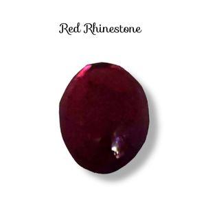 🔴 15/$25. Red, Oval Shape Rhinestone